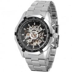 Ceas de lux barbatesc T-winne, mecanism automatic-mecanic, bratara din otel inoxidabil, stil Fashion