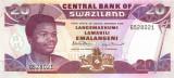 SWAZILAND █ bancnota █ 20 Emalangeni █ 1992 █ P-21b █ UNC █ necirculata