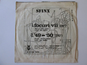 Rar! Vinil single 7'' Sfinx & Sfinx-Focuri vii in stare buna,Electrecord 1981