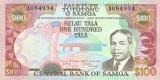 SAMOA █ bancnota █ 100 Tala █ 1990 █ P-30 █ UNC █ necirculata