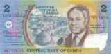 SAMOA █ bancnota █ 2 Tala █ 1990 █ P-31e █ POLYMER █ UNC █ necirculata