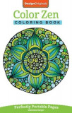 Color Zen Coloring Book: Perfectly Portable Pages, Paperback