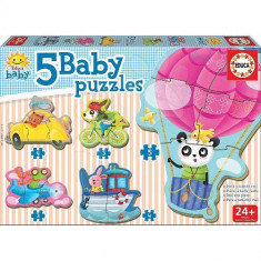 Puzzle Baby Driving Animals 19 Piese - VV25772, Educa