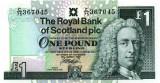 SCOTLAND █ bancnota █ 1 Pound █ 1999 █ P-351d █ ROYAL BANK OF SCOTLAND █ UNC