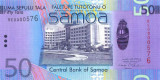 SAMOA █ bancnota █ 50 Tala █ 2008 █ P-41a █ UNC █ necirculata