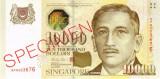 SINGAPORE █ bancnota █ 10000 Dollars █ 1999 █ P-44s █ SPECIMEN █ RAR  █ UNC