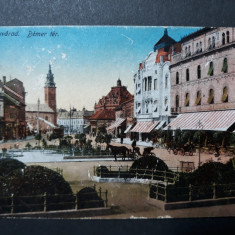 ORADEA - PIATA BEMER - INCEPUT DE 1900, Circulata, Fotografie