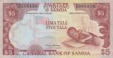 SAMOA █ bancnota █ 5 Tala █ 2002 █ P-33a █ UNC █ necirculata
