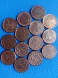 14 Monede 1 euro cent diverse, Europa
