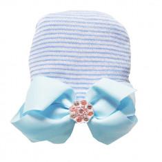 Caciulita pentru nou nascuti cu funda, 0-1 luni