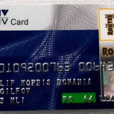 ROMANIA  CARD OMV PENTRU COLECTIONARI **