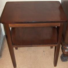 masă televizor, din lemn lustruit, vintage