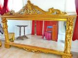 Oglinda Baroc mare lemn cristal st. F.B. Executata in lemn masiv.