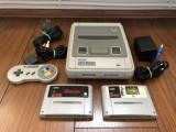 Consola Super Nintendo SNES vintage1992 Made in Japan,de colectie+2jocuri+maneta