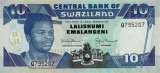 SWAZILAND █ bancnota █ 10 Emalangeni █ 1992 █ P-20b █ UNC █ necirculata