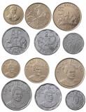 SWAZILAND █ SET COMPLET DE MONEDE █ 10+20+50 Cents 1+2+5 Emalangeni █ 2015 █ UNC