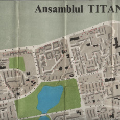 Harta Bucuresti ansamblul Titan 1982