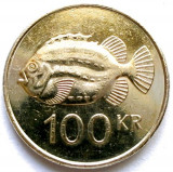 MOKAZIE , ISLANDA , 100 KRONUR 2007 , PESTE Lumpfish (Cyclopterus lumpus). 26mm., Europa