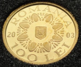 100 Lei 2003 - Coif Poiana Cotofenesti - moneda de aur