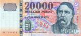 UNGARIA █ bancnota █ 20000 Forint █ 2007 █ P-193d █ UNC █ necirculata