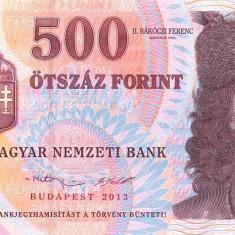 UNGARIA █ bancnota █ 500 Forint █ 2013 █ P-196e █ UNC █ necirculata