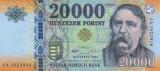 UNGARIA █ bancnota █ 20000 Forint █ 2016 █ P-207b █ UNC █ necirculata