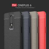 Husa / Bumper Antisoc model PIELE pentru OnePlus 6