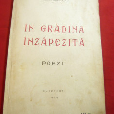 Florica Radulescu - In gradina inzapezita -Ed.Lupta 1929 - cu dedicatie si autog