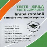 Limba romana. Teste admitere invatamant superior conform DOOM 2