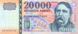UNGARIA █ bancnota █ 20000 Forint █ 2008 █ P-201a █ UNC █ necirculata