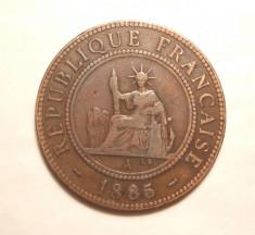 INDOCHINA FRANCEZA 1 CENT 1885 foto