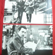 2 Fotografii -Film Donnie Brasco- cu Johnny Depp si Al.Pacino 1997,dim.=18x11cm