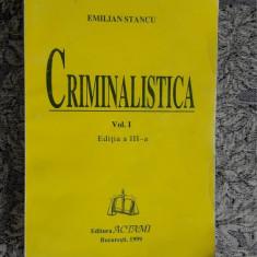 CRIMINALISTICA Tehnica criminalistica SI  Tactica si metodologia criminalistiva