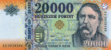 UNGARIA █ bancnota █ 20000 Forint █ 2015 █ P-207a █ UNC █ necirculata