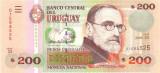 URUGUAY █ bancnota █ 200 Pesos Uruguayos █ 2009 █ P-89b █ UNC █ necirculata