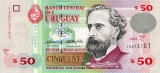URUGUAY █ bancnota █ 50 Pesos Uruguayos █ 2003 █ P-84 █ UNC █ necirculata