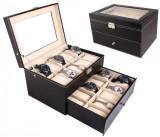 Cutie pentru 20 de ceasuri din piele ecologica