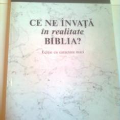CE NE INVATA IN REALITATE BIBLIA ? ~ EDITIE CU CARACTERE MARI