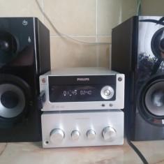 MICRO SISTEM AUDIO PHILIPS MCM772/12 PERFECT FUNCTIONAL FARA BOXE 100 WATTI RMS