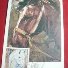 Maxima - Pictura cal -Jacques Birr 1976 ,pliu pe centru