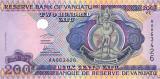 VANUATU █ bancnota █ 200 Vatu █ 1995 █ P-8a █ Serie AA █ UNC █ necirculata