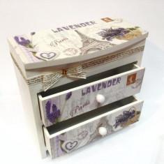 Cutie pentru bijuterii Lavanda