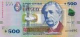 URUGUAY █ bancnota █ 500 Pesos Uruguayos █ 2014 █ P-97 █ UNC █ necirculata