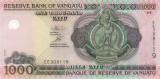 VANUATU █ bancnota █ 1000 Vatu █ 2002 █ P-10 █ Serie EE █ UNC █ necirculata