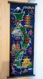 Rulou Japonez (Souvenir) cu Harta Japoniei