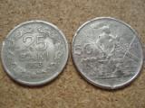 ROMANIA,  25 BANI 1953 DETERIORATA PLUS CADOU 50 BANI 1955 , L 5.65
