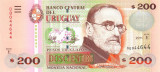 URUGUAY █ bancnota █ 200 Pesos Uruguayos █ 2011 █ P-89v █ UNC █ necirculata