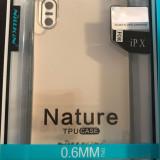 Carcasa spate iphone x, Transparent