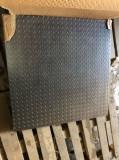 "Cantar 3 tone (3000kg) platforma 100 x 100 cm, tabla groasa 5"""