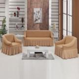 Set huse 3 piese canapea si fotolii din bumbac